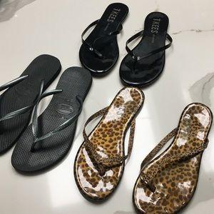 3Piece Tkees flip flop bundle size 6 new condition